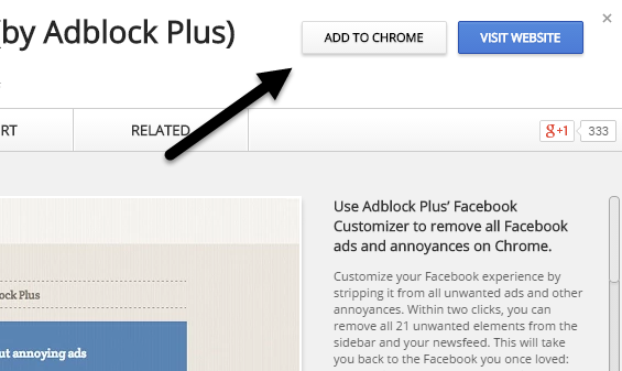 Add adblock to chrome
