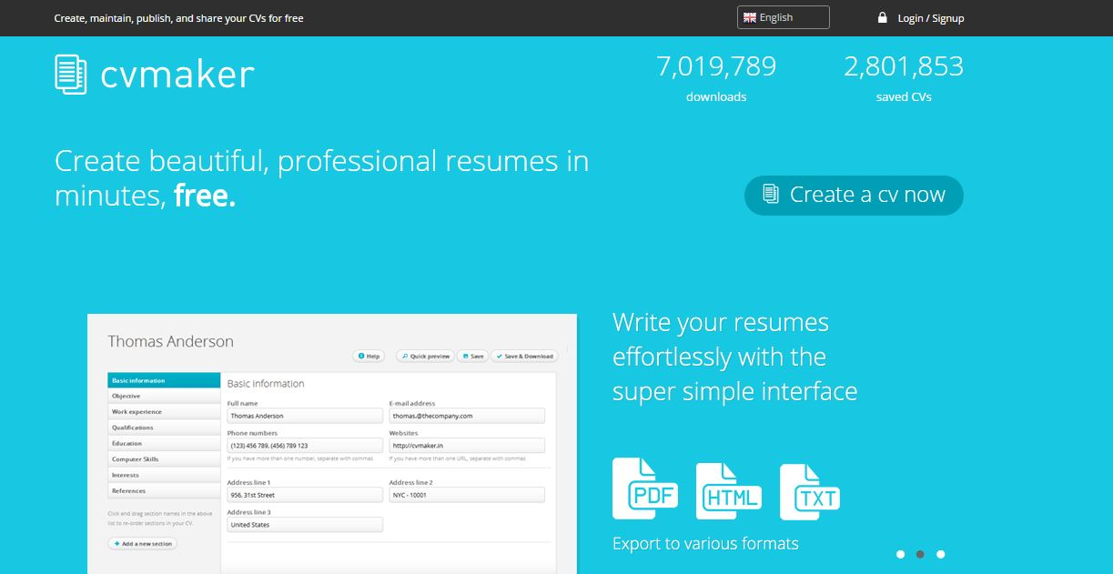 5 best sites to create cv  resume online for free