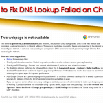 How to Fix DNS Lookup Failed on Chrome?