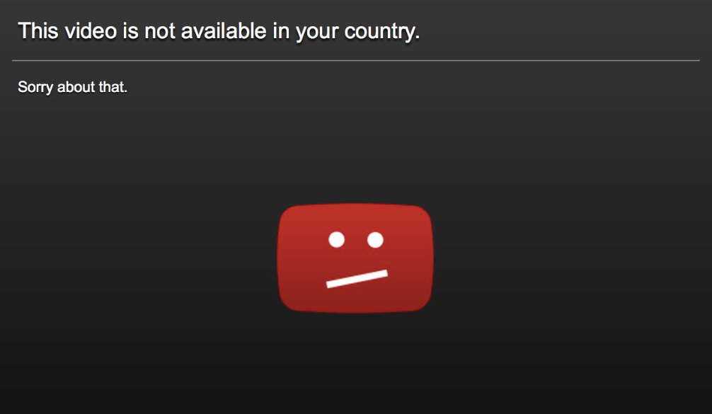 Pornhub not available in your country